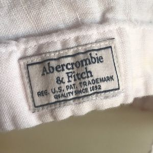 Abercrombie & Fitch Shirts - Abercrombie & Fitch Pink Linen shirt Medium small